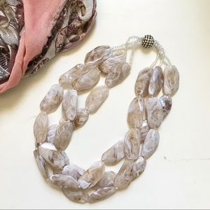 Anthropologie |Beaded Statement Necklace